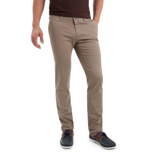 Color beig - Pantalón TCH Sport tipo chino en colores en Algodón con lycra elástico REGULAR