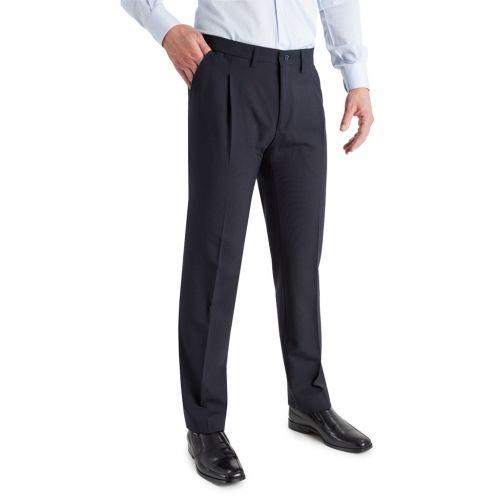 Color azul marino - Comprar Pantalón TCH Fresco Verano en Poliester Lana 1 pliegue