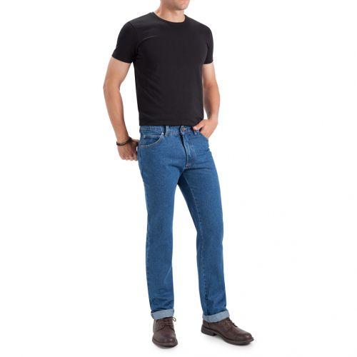 Color azul denim 14 onzas lavado piedra - Jeans TCH 5 Bolsillos clásico fabricado en tejido 100% Algodón, no elástico línea Regular