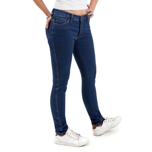 lavado vaquero azul oscuro - Pantalón TCH Jeans elástico ajustado de chica en tejido de algodón con Lycra de punto.