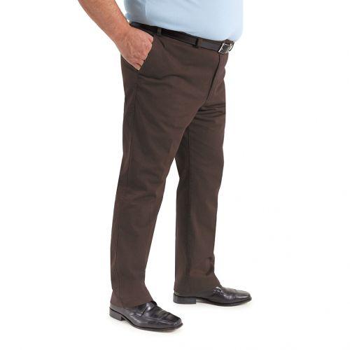 Color marrón chocolate - Pantalón TCH sport chino para chico hombre en tallas grandes, fabricado en gabardina fina elástica algodón con lycra REGULAR
