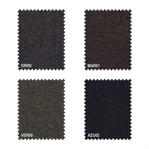 Color marron - Comprar Pantalon fabricado en tallas grandes para hombre Rico Lana Vigoré 1 pinza